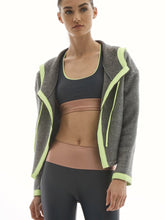 Load image into Gallery viewer, Lanston Sport Pursuit Neon Blocked Hoodie - Smoke