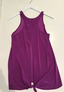 Onzie- Tie Back Tank-  Orchid- O/S