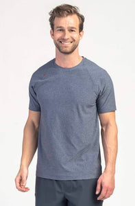 Rhone Reign Short Sleeve Midnight Heather
