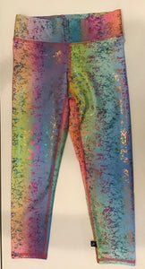 Terez Rainbow Haze Capri with Foil Overlay