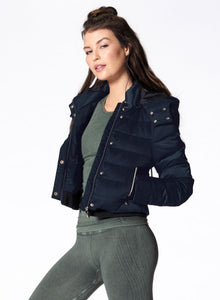 Nux Crop Puffer Jacket - Navy