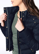 Load image into Gallery viewer, Nux Crop Puffer Jacket - Navy