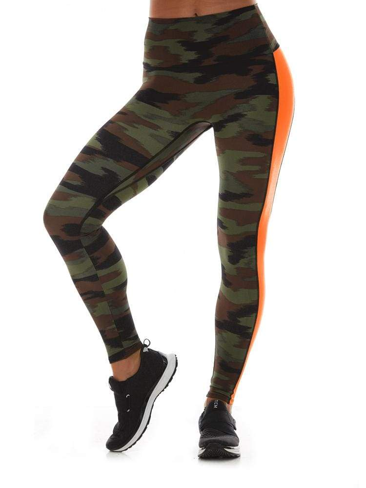 K-Deer Peace Out Legging - Camo/ Hot Orange