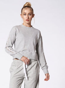 Nux Luxe Lattice Sweatshirt - Grey
