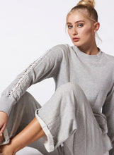Load image into Gallery viewer, Nux Luxe Lattice Sweatshirt - Grey