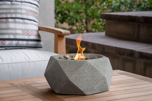 Geo Table Top Fire Bowl