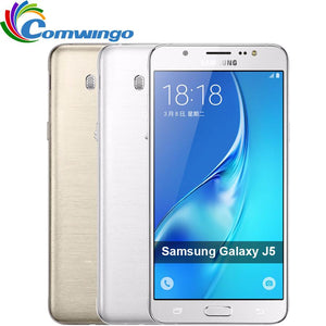 "Samsung Galaxy J5 (2016) Phone 2GB 16GB ROM  5.2"" inch Screen Quad Core Snapdragon FDD 4G LTE Smartphone"