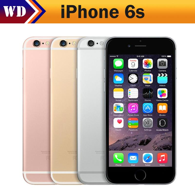 Original Unlocked Apple iPhone 6s 12.0 MP Cell Phone 2GB RAM Dual Core Smartphone 4.7 Inch iOS Mobile Phone  Used