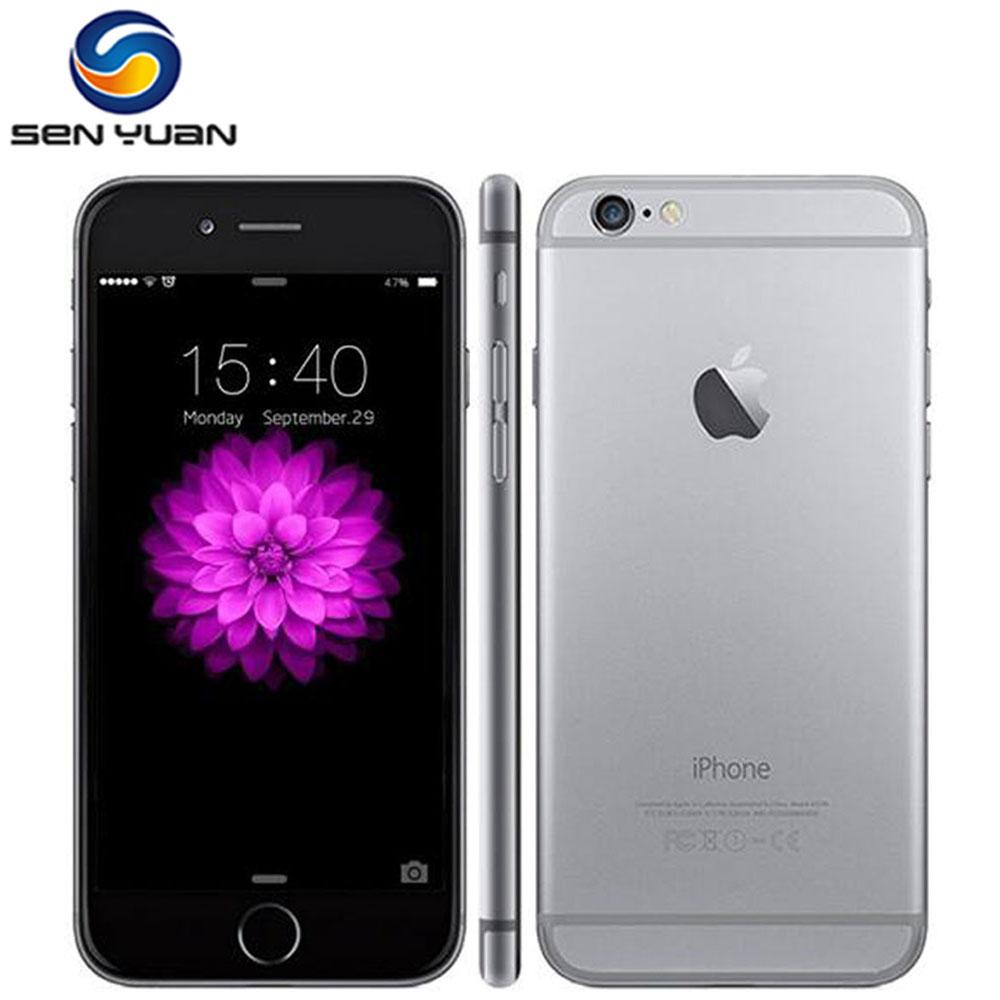 100% Original iPhone 6 Unlocked 4.7 Inch Dual Core 1.4 GHz 1GB RAM 16/64/128GB ROM 8MP Camera  IOS IPS  Mobile Phone