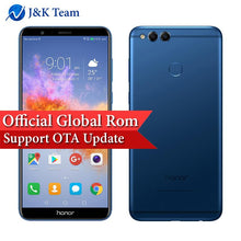 "Global ROM Huawei Honor 7X 5.93"" Full View Screen 2160*1080pix OTA Update Mobile Phone Octa Core 2.4GHz Dual Rear Camera 16MP"