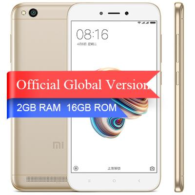 Global Version Xiaomi Redmi 5A 5 A Mobile Phone Snapdragon 425 Quad Core 2GB 16GB 5.0 Inch 13.0MP Camera 3000mAh MIUI 9 OTA CE