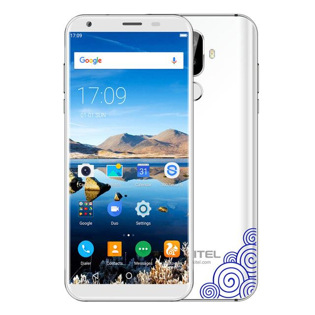 Oukitel K5 18:9 5.7'' Android 7.0 2GB RAM 16GB ROM Mobile Phone MTK6737T Quad Core 3 Cameras 4000mAh Fingerprint Smart Cellphone
