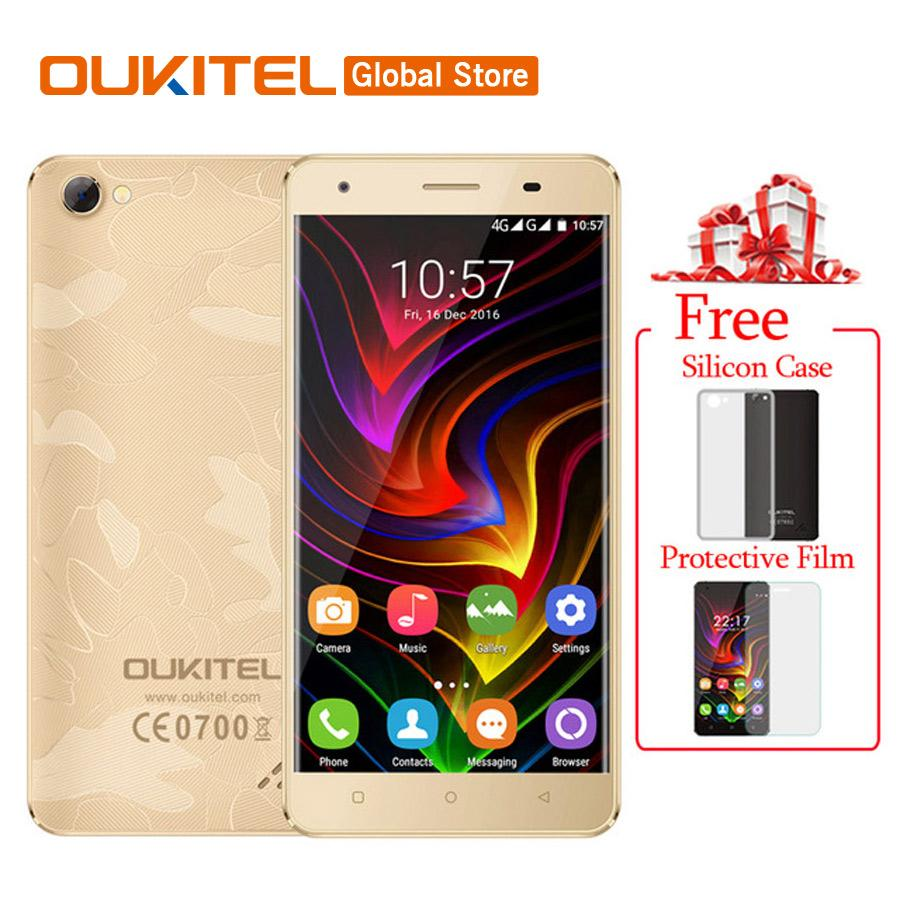 In Stock Original Oukitel C5 Pro 4G LTE 2000mAh Mobile Phone MTK6737 Quad Core Android 6.0 5.0