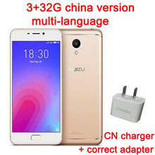 Original Meizu M6 3GB RAM 32GB ROM 4G LTEMEILAN 6 Mobile Phone 5.2 inch Screen 3070mAh battery MTK6750 Octa core