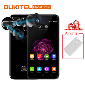 "In Stock Oukitel U20 Plus 5.5""FHD Quad Core 2GB RAM 16GB ROM MTK6737T Android 6.0 13.0MP 1920x1080 Fingerprint Mobile Phone"