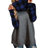 Plaid Pullover Sweatshirt