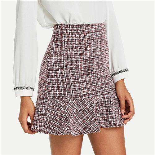 High Waist Short Skirt