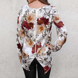 Long Sleeve Printed Loose Top