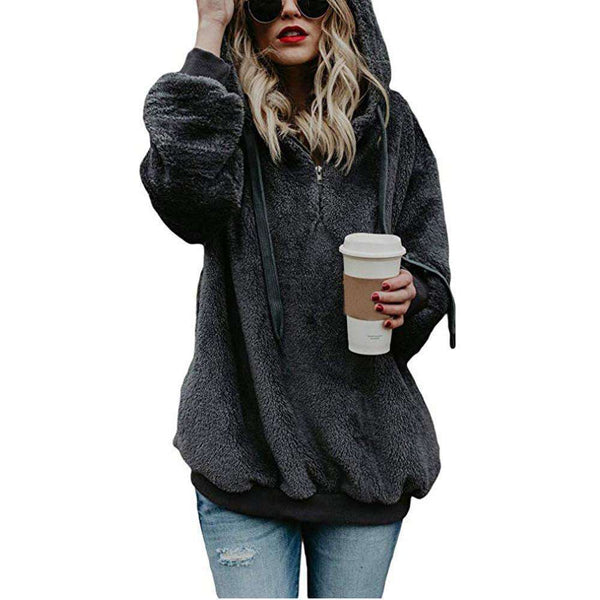Hooded Sweatshirt Coat
