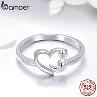 Sterling Silver Sweet Heart Finger Ring