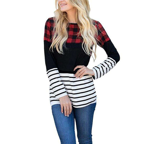 Striped Plaid Top