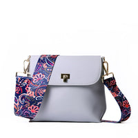 Crossbody Messenger Bag with Colorful Strap