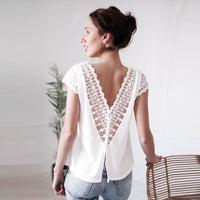 Backless Lace Top