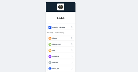 Pay with Coinbase Commerce for coffee