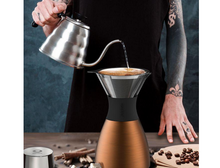 Load image into Gallery viewer, Asobu Pour over Coffee Brewer with insulated coffee flask in Copper