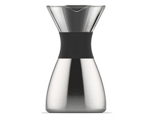 Load image into Gallery viewer, Asobu Pour over Coffee Brewer with insulated coffee flask in Silver