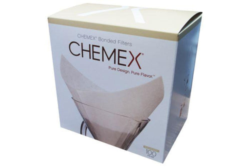Chemex Squares Paper Filter 6-10 Cup pack of 100