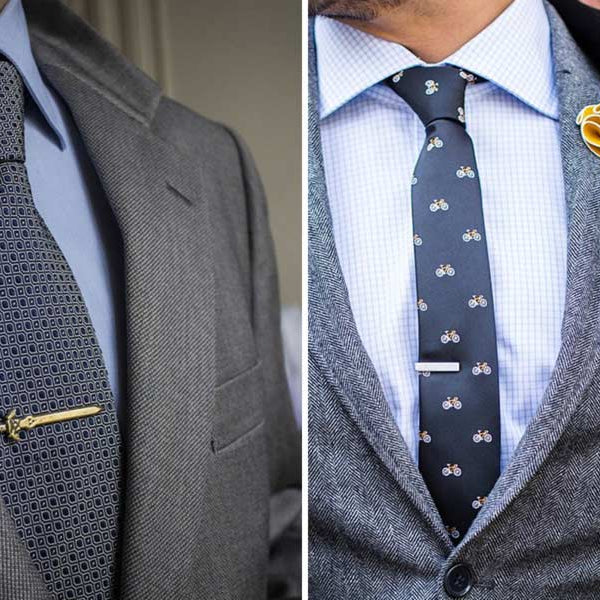 The Correct Way to Wear a Tie Clip or Tie Bar