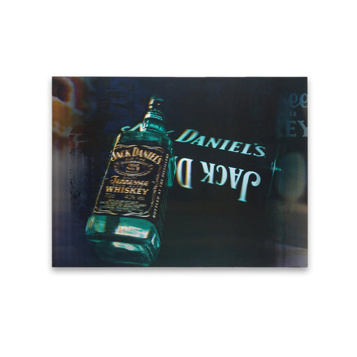 Aqua Jack Daniels Whiskey Bottle 5D Picture Lenticular Print Medium
