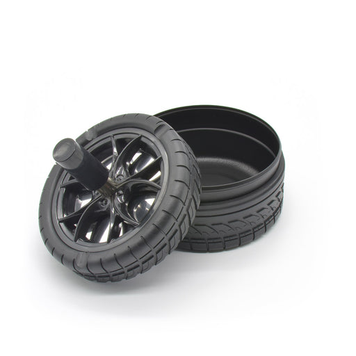 Car Tyre Spinning Ashtray - Black | That Bloke