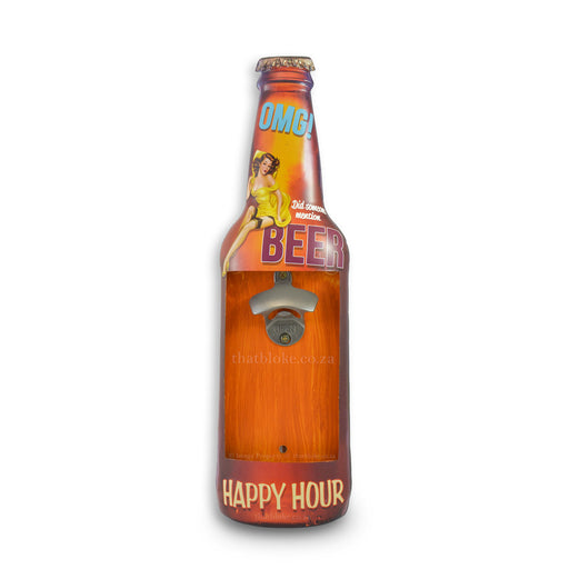 Wall Hanging Tin Bottle Opener - Happy Hour | That Bloke
