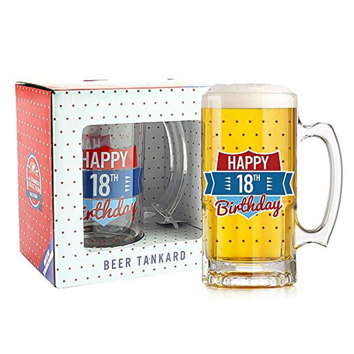 18 Birthday Beer Glass Tankard Mug Image