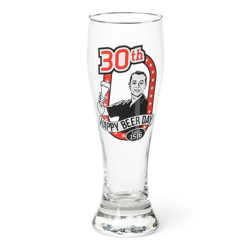 30th Birthday Beer Glass Men's Gift Since 1516 Empty Image