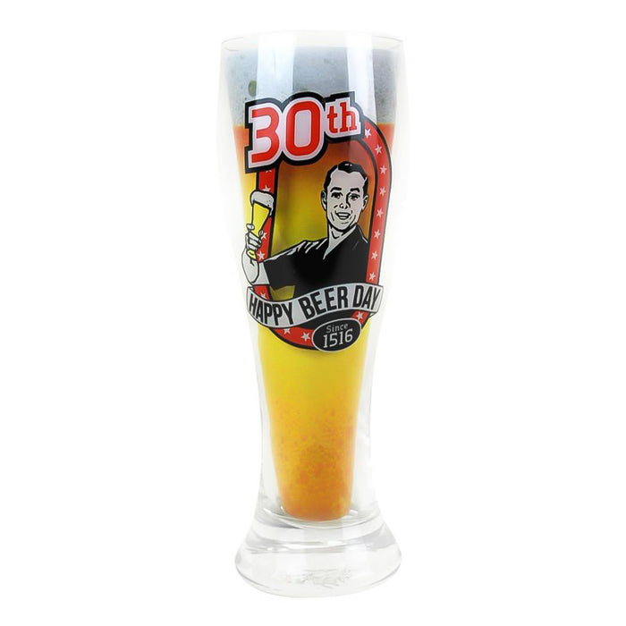 30th Birthday Beer Glass Since 1516 Full Image