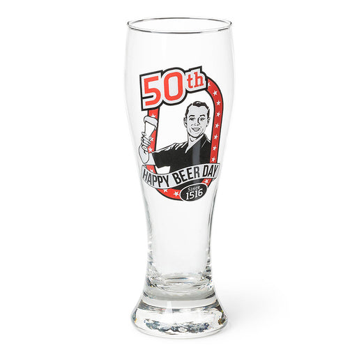 50th Birthday Beer Glass Men's Gift Since 1516 Empty Image
