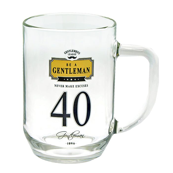 40th Birthday Beer Glass Men's Gift Gentlemen Never Make Excuses