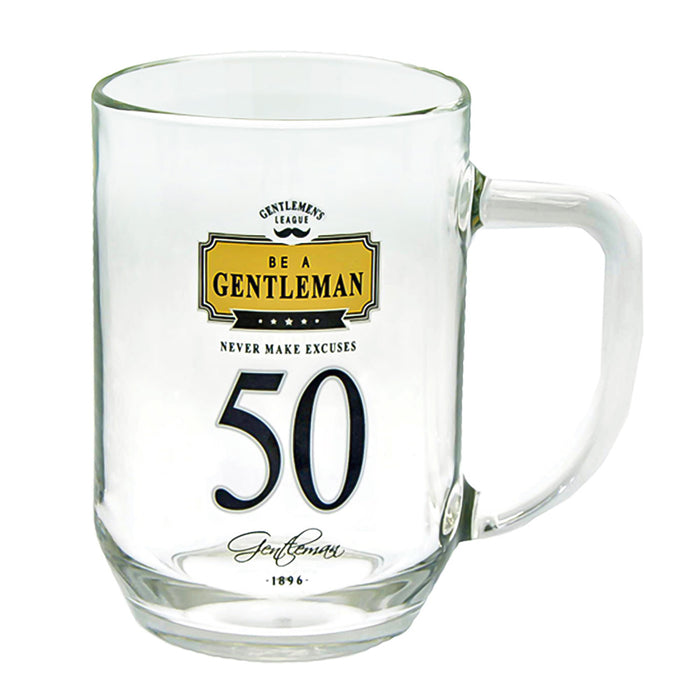 50th Birthday Beer Glass Men's Gift Gentlemen Never Make Excuses