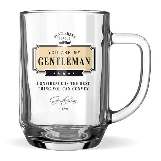 Beer Glass Gentleman Club Men's Gift Confidence Front