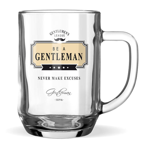 Beer Glass Gentleman Club Men's Gift Never Make Excuses Front