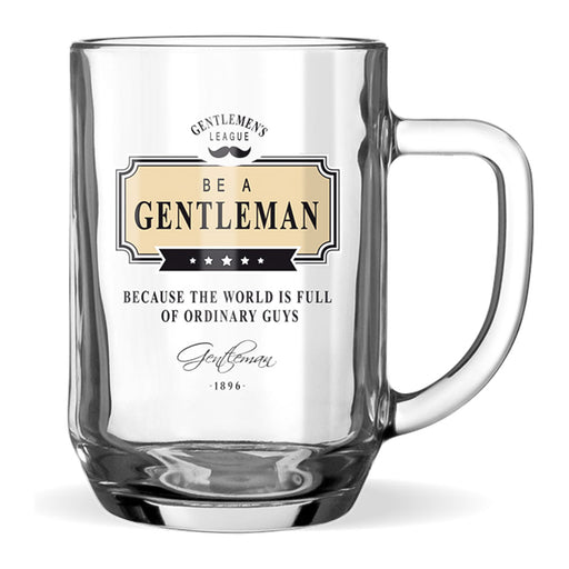 Beer Glass Gentleman Club Men's Gift Ordinary Guys Front