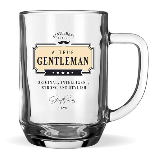 Beer Glass Gentleman Club Men's Gift Original Intelligent Strong Stylish Front