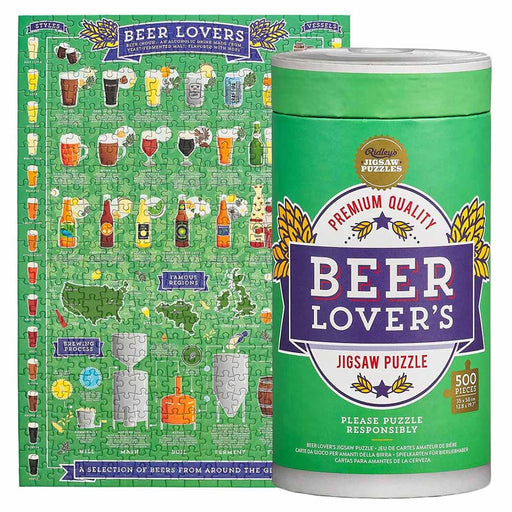 Beer Lovers Jigsaw Puzzle 500 Pieces Green Showcase