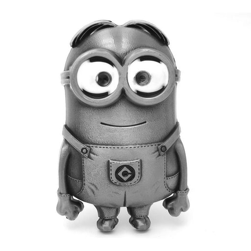 Dave The Minion Belt Buckle Zinc Alloy Pewter Grey Front Image