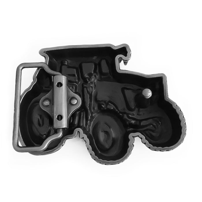 Belt Buckle - Car Tractor (Pewter Grey)