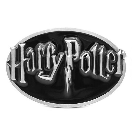 Harry Potter Belt Buckle Grey Black Image Front