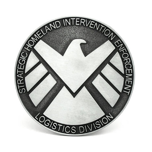 Agents Of Shield Belt Buckle Superhero Image Front
